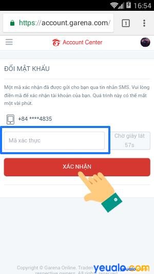 Cách đổi mật khẩu liên quân trên điện thoại chi tiết nhất