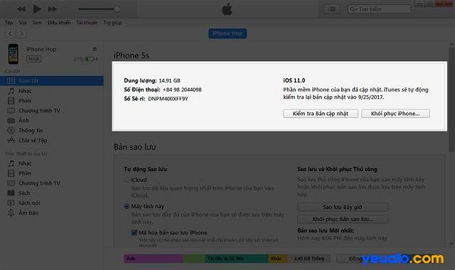 Bạn cần hạ cấp IOS 11 xuống 10.3.3 nếu đã lỡ cập nhật