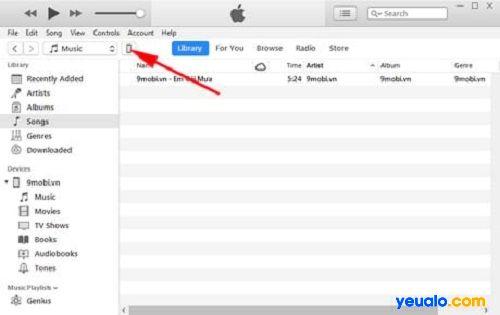 Nhấn vào biểu tượng điện thoại của mình trên iTunes