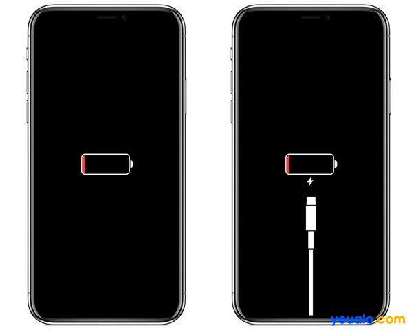 Kết nối với nguồn điện hỗ trợ iphone khởi động lại