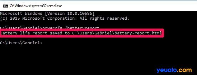 Hãy nhập dòng lệnh để xuất file báo cáo về ổ đĩa C