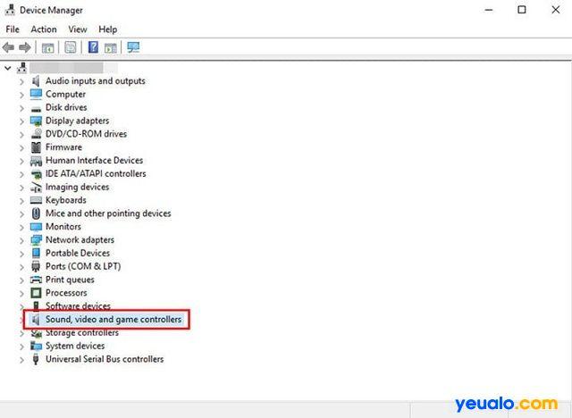 Khắc phục lỗi âm thanh Win 10 bằng cách cập nhật driver âm thanh khác