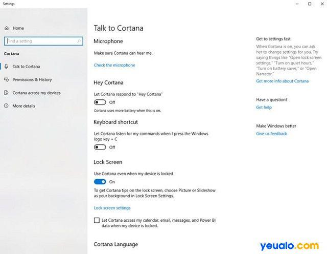 Có thể khắc phục lỗi âm thanh Win 10 bằng cách chỉnh Cortana và microphone