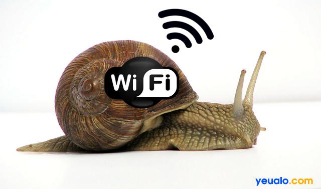Tốc độ wifi kém do nhiều nguyên nhân