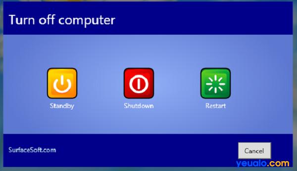Có nhiều cách tắt máy tính