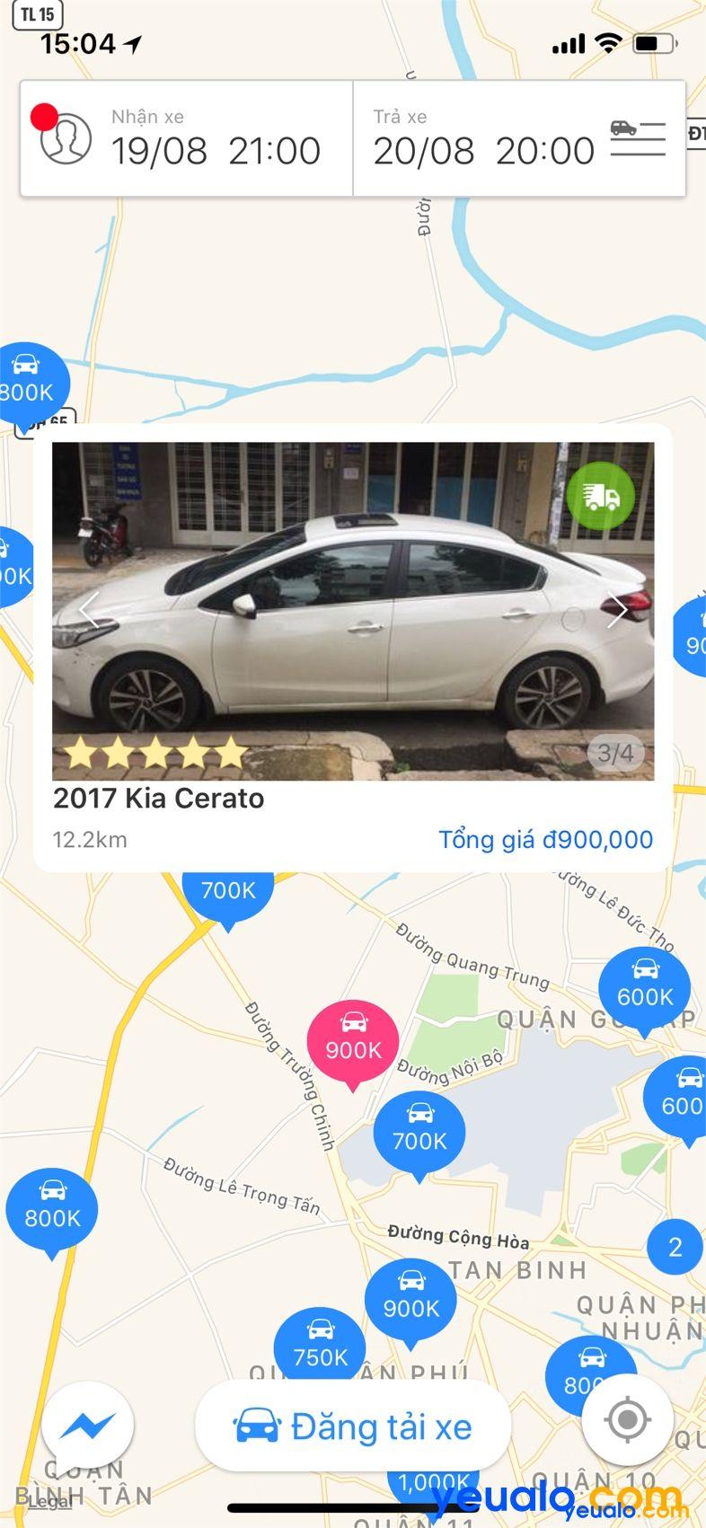 Cho thuê xe tự lái online ở đâu