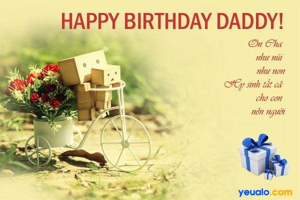 Lời chúc mừng sinh nhật bố ý nghĩa và cảm động nhất.
