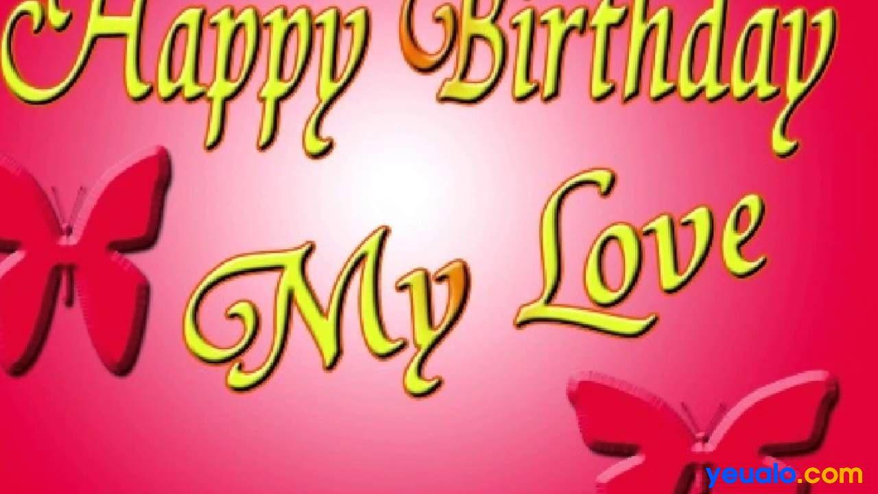 Lời chúc sinh nhật người yêu con gái hay nhất