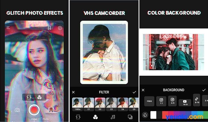 App chỉnh ảnh màu Film Vintage 3D Glitch Photo Effects