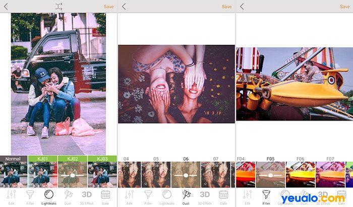 App chỉnh ảnh màu Film Vintage có nhiễu hạt, vết xước đẹp nhất KUNI Cam