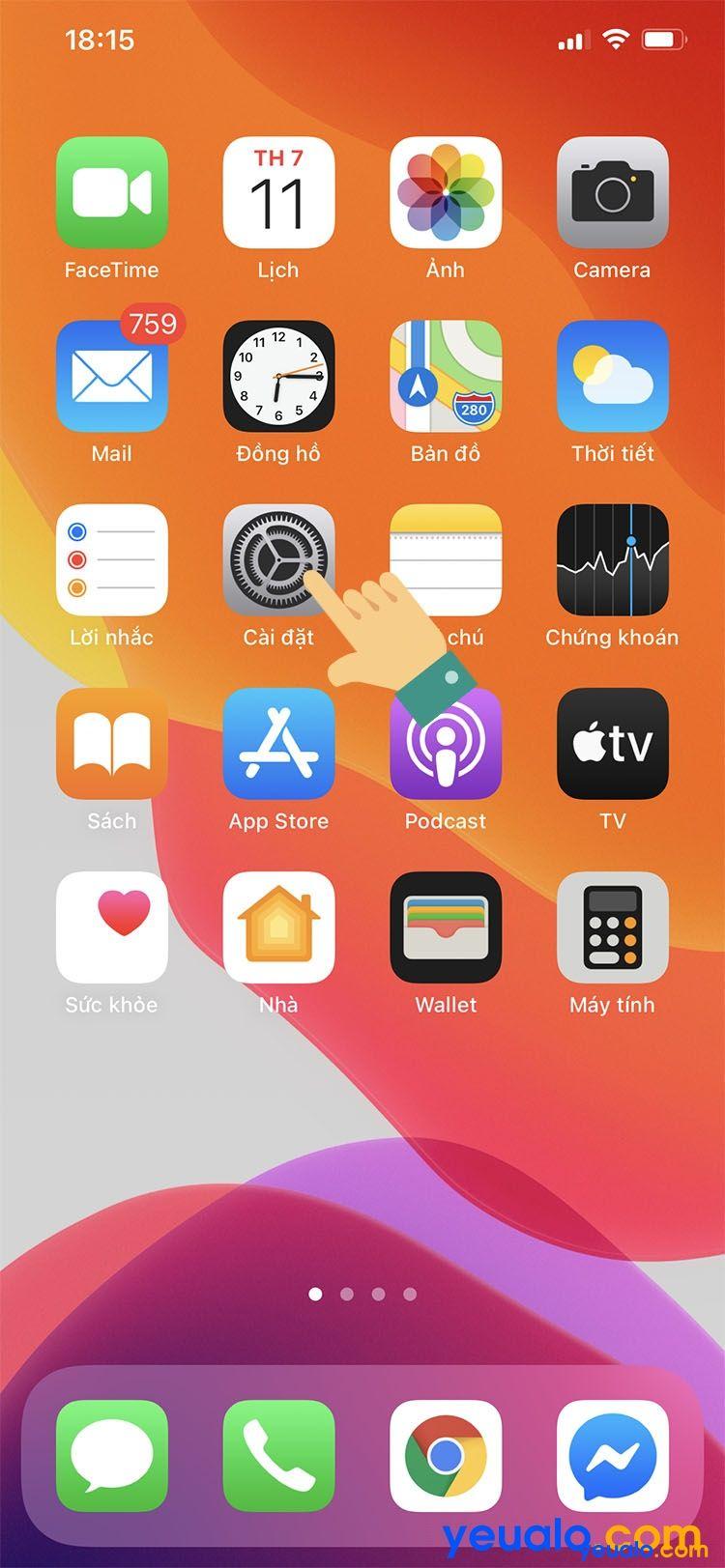 Cách cài đặt chạm vào mặt lưng iPhone 1