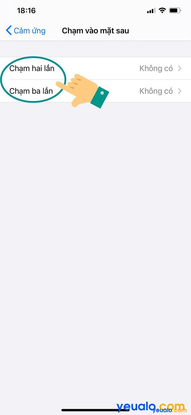 Cách cài đặt chạm vào mặt lưng iPhone 5
