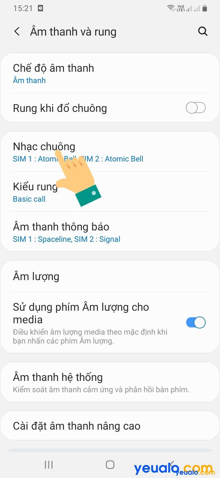 Cách cài đặt nhạc chuông Samsung bằng bài hát 3
