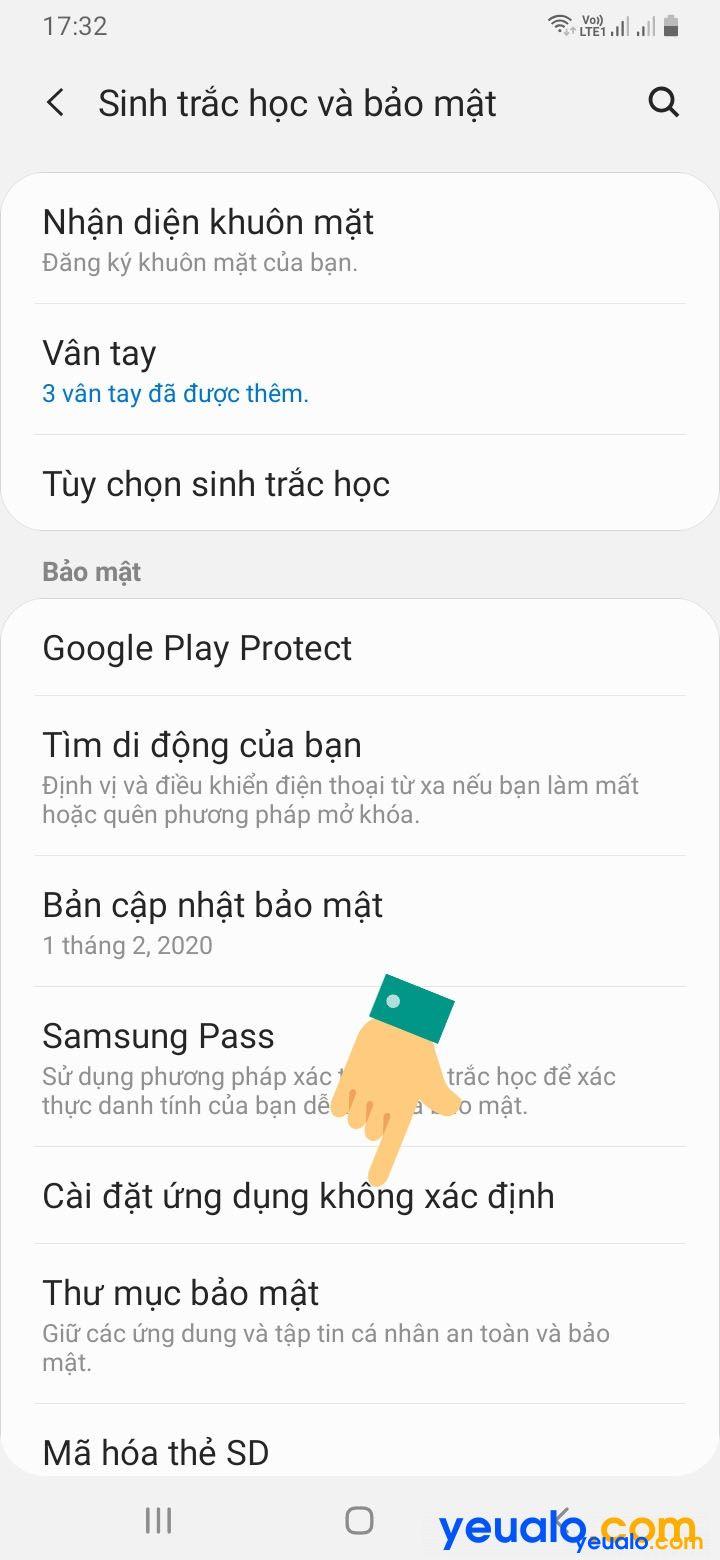 Cách cài đặt ứng dụng không rõ nguồn gốc Samsung