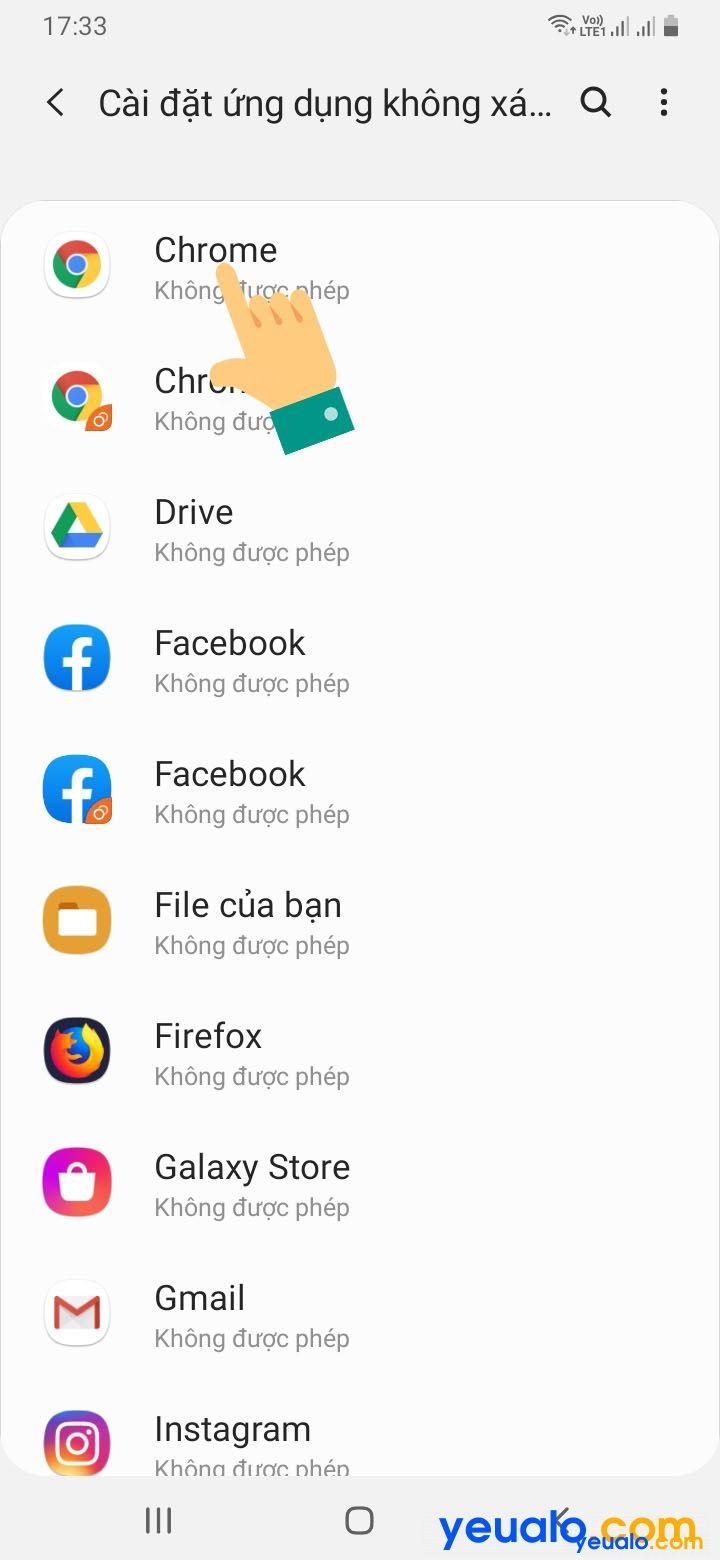 Cách cài đặt ứng dụng không rõ nguồn gốc trên Samsung 4
