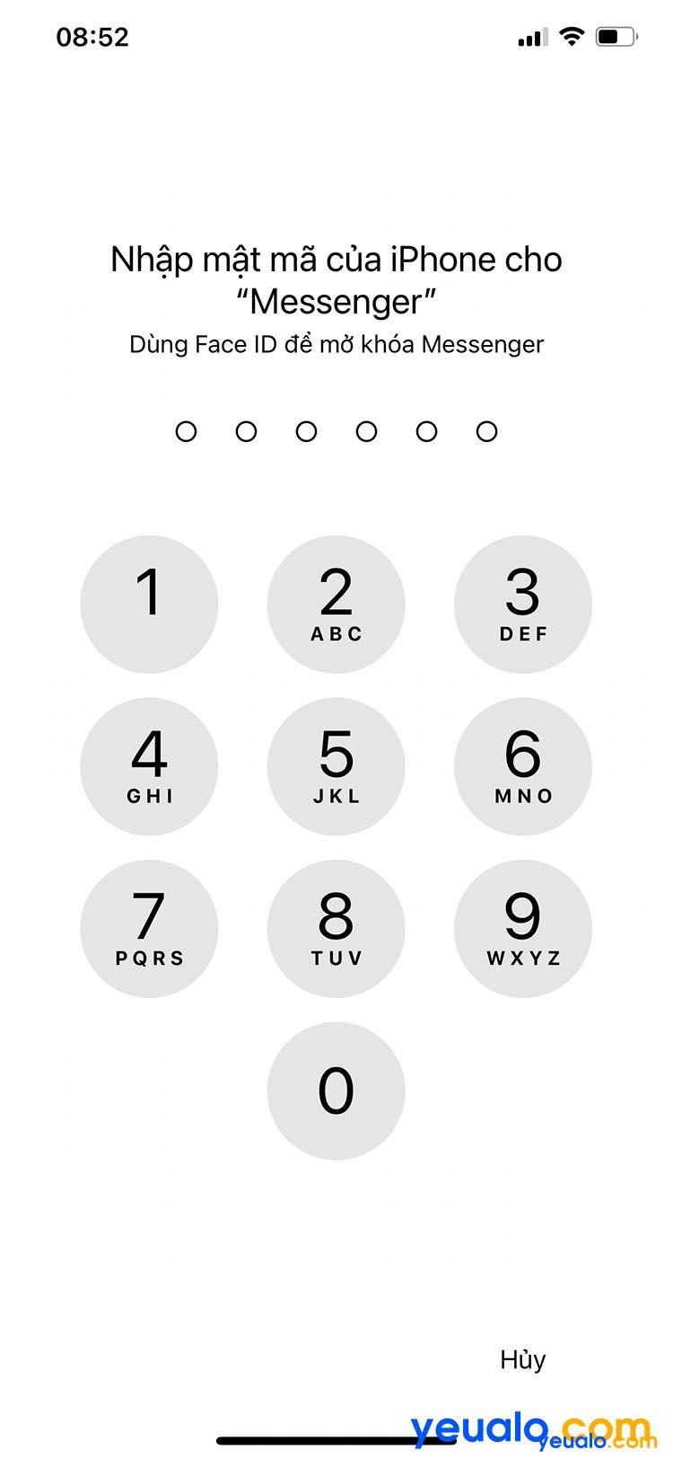 Cách cài mật khẩu Messenger cho iPhone 7