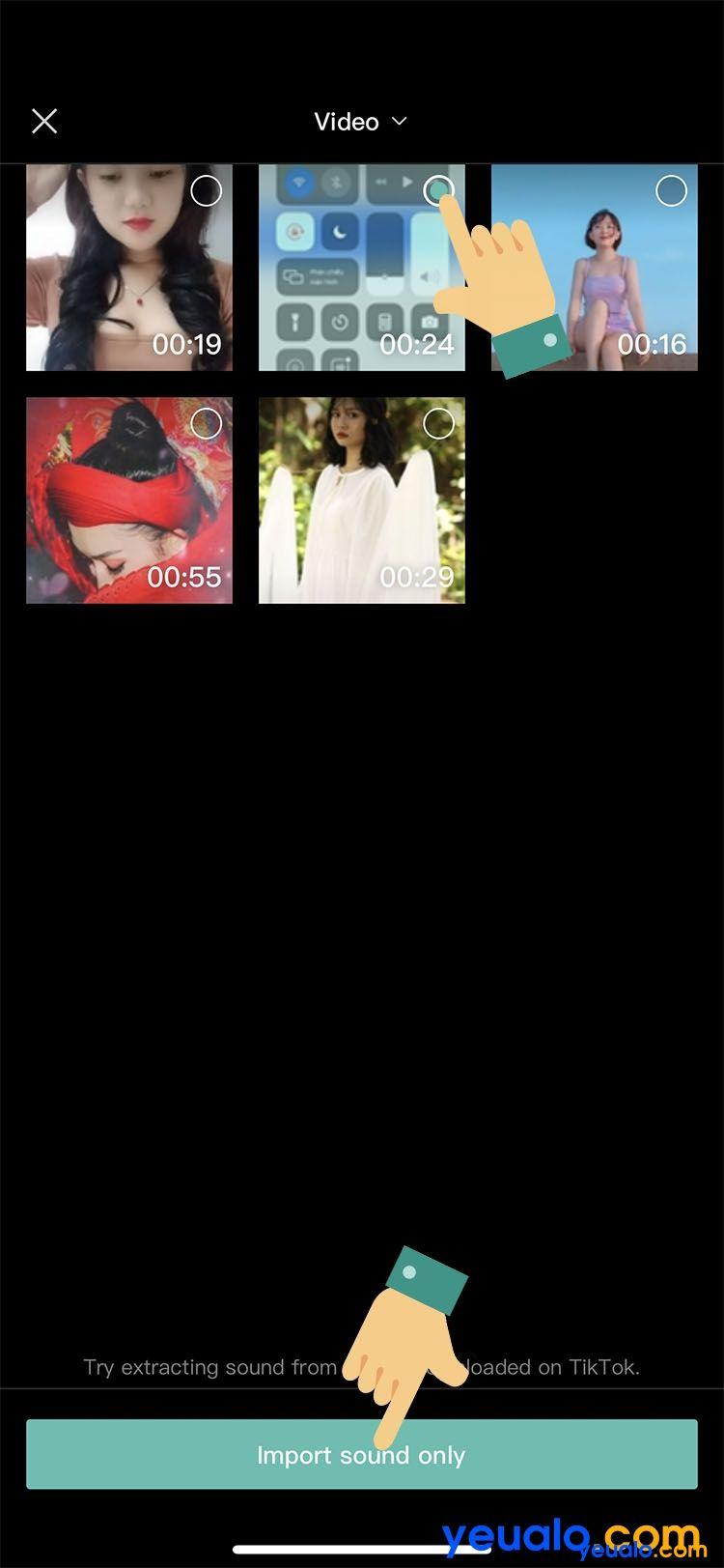 Cách ghép giọng chị Google vào video TikTok trên iPhone 10