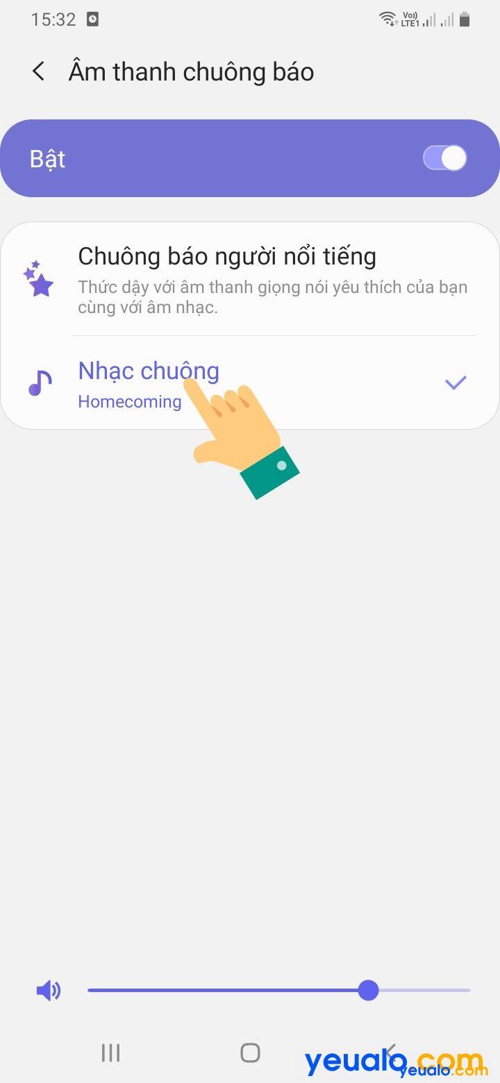 Cách đặt chuông báo thức bằng bài hát cho Samsung 4