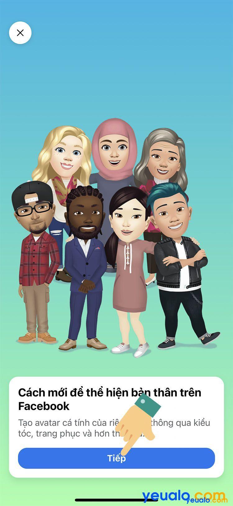 Cách làm avatar nhãn dán hoạt hình giống mình trên Facebook Messenger 3