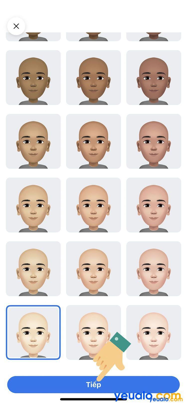 Cách làm avatar nhãn dán hoạt hình giống mình trên Facebook Messenger 4