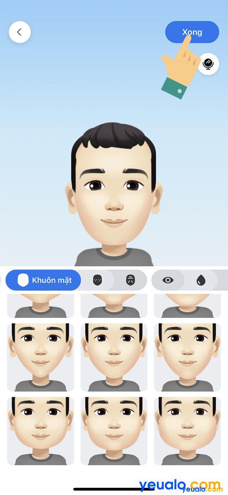 Cách làm avatar nhãn dán hoạt hình giống mình trên Facebook Messenger 6