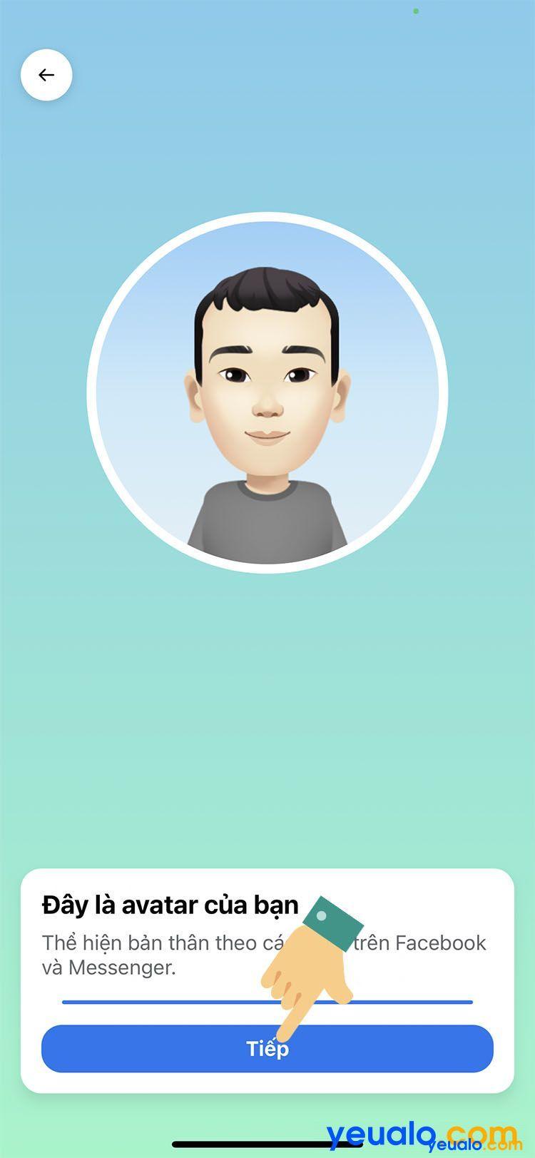 Cách làm avatar nhãn dán hoạt hình giống mình trên Facebook Messenger 7