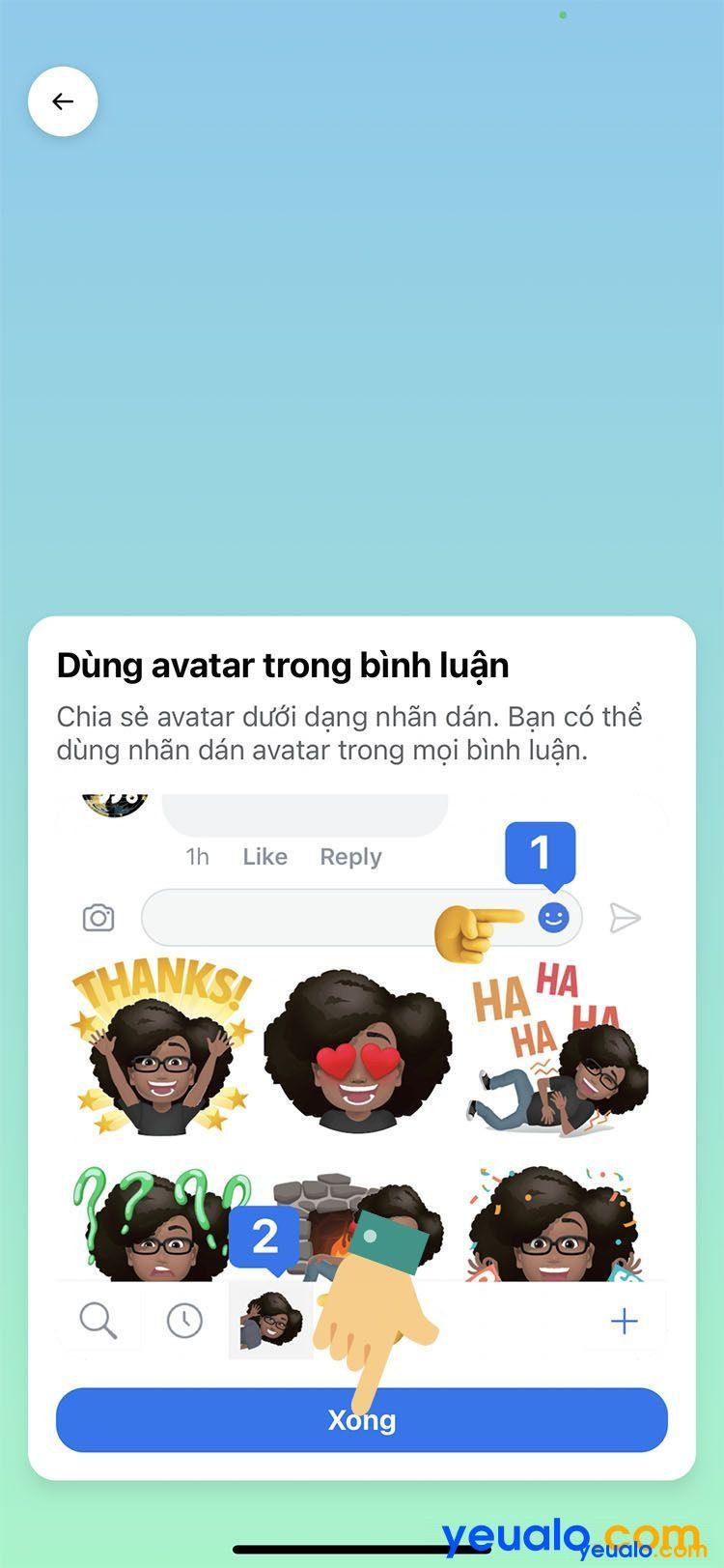 Cách làm avatar nhãn dán hoạt hình giống mình trên Facebook Messenger 8