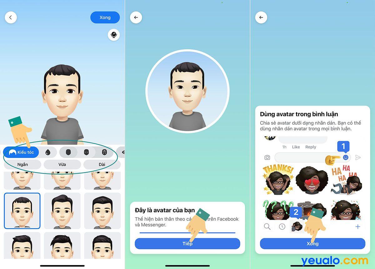 Cách làm avatar, nhãn dán hoạt hình giống mình trên Facebook, Messenger