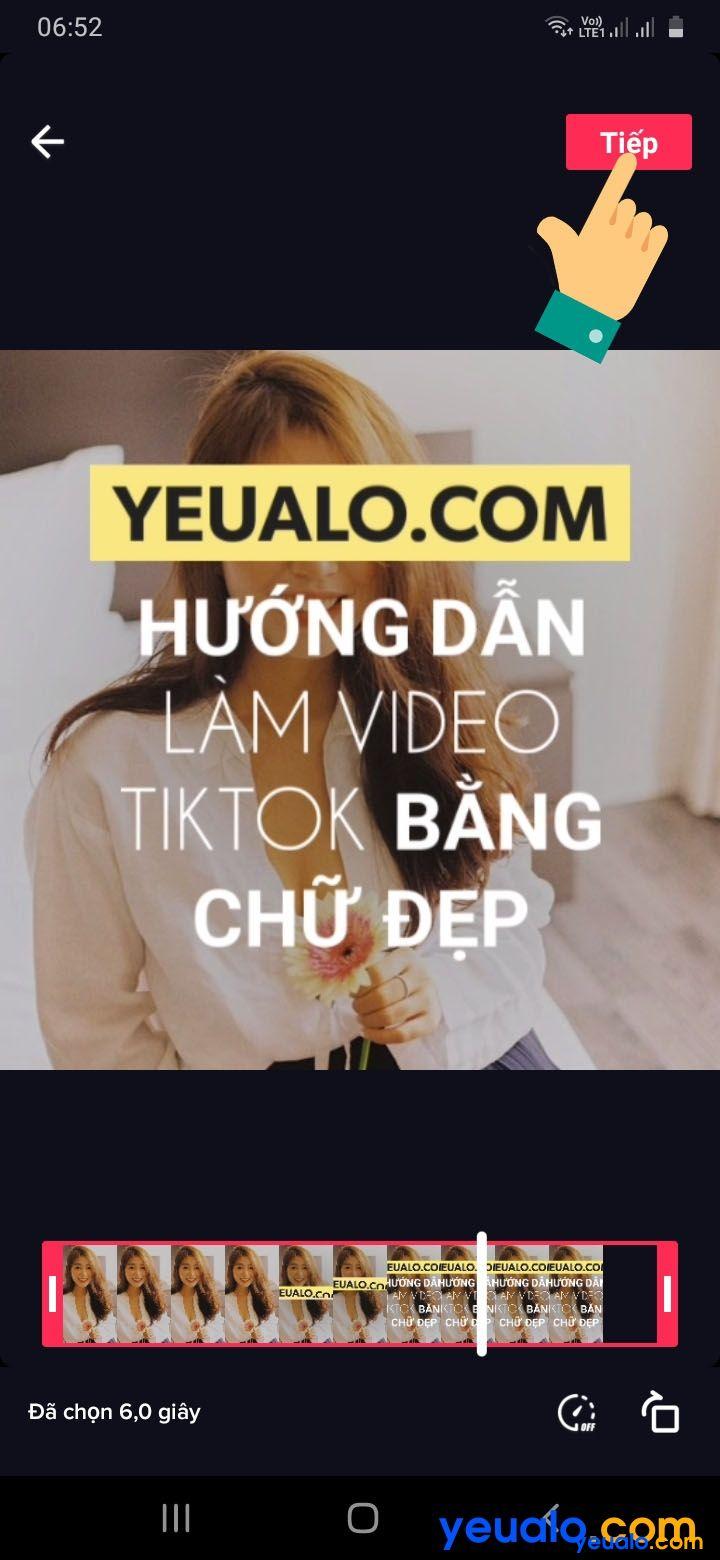 Cách ghép nhạc vào video TikTok bằng chữ 11