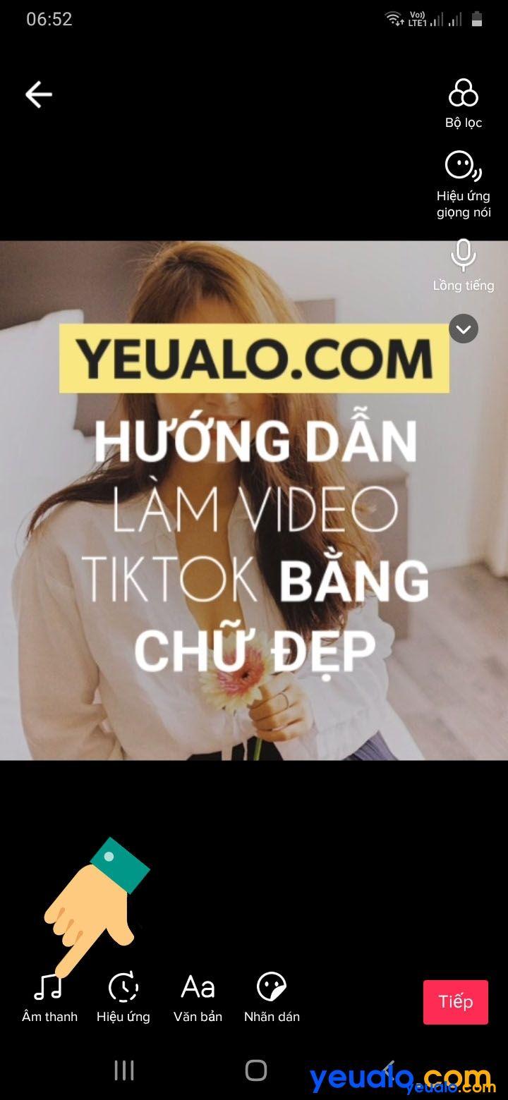 Cách ghép nhạc vào video TikTok bằng chữ 12