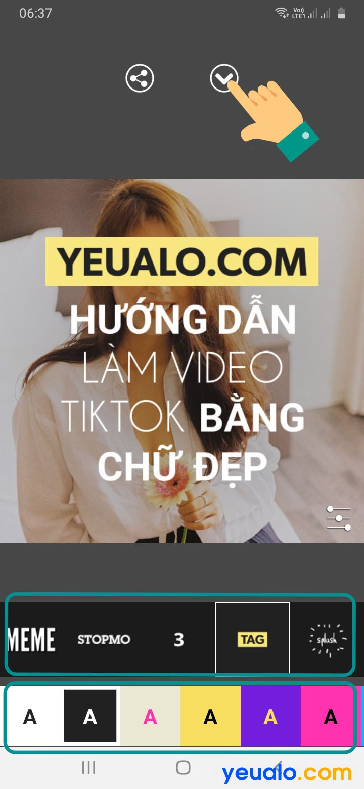 Cách làm video TikTok bằng chữ 8