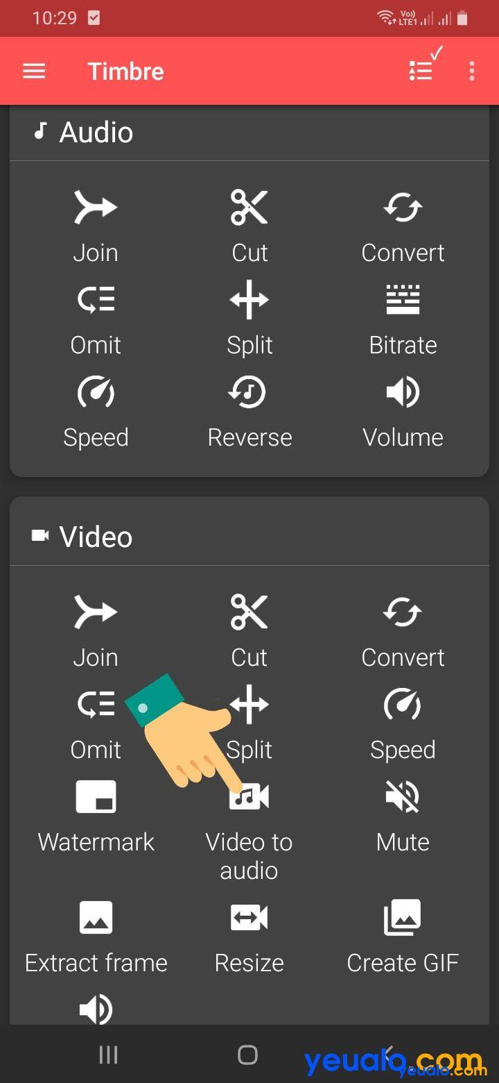 Cách lấy âm thanh từ video bằng điện thoại