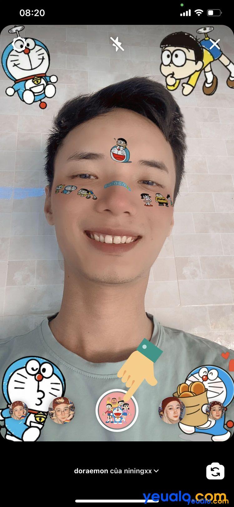 Cách lấy sticker Doraemon trên nền nhạc TikTok 8