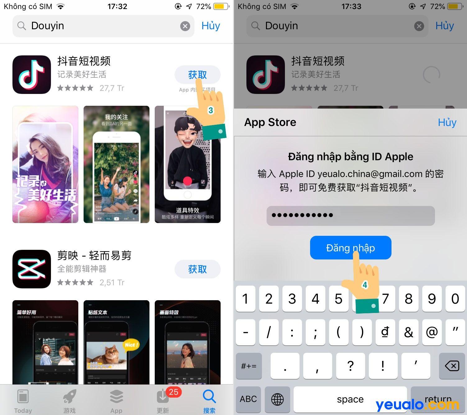 Cách tải Tik Tok Trung Quốc iPhone 2