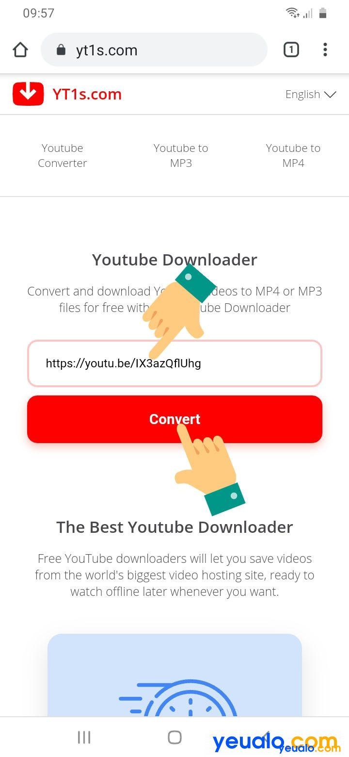 Cách tải Video từ Youtube về điện thoại Android không cần phần mềm 3