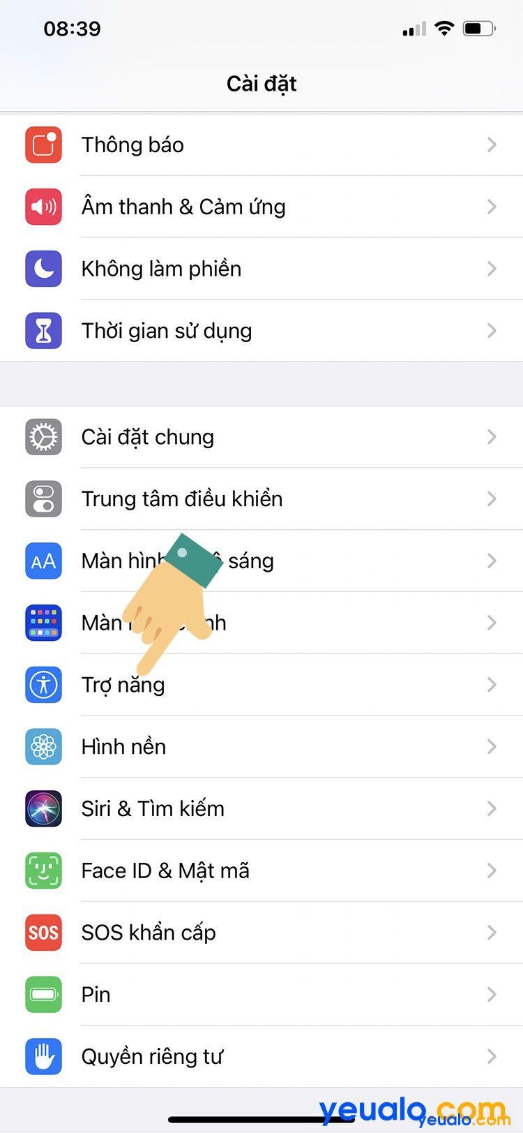 Chạm vào màn hình để mở khóa iPhone 3